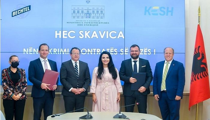Bechtel Signs Contract with Albanian Government for Skavica Hydro Project