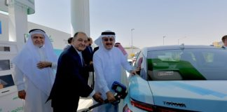 Saudi Arabia's first hydrogen fueling station