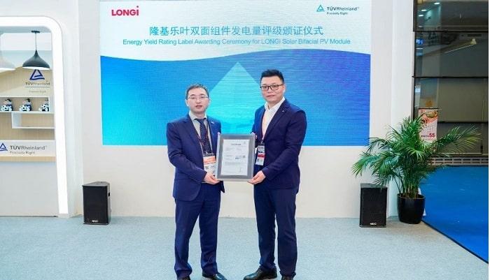 LONGi wins TUV Rheinland's highest A++ Energy Yield rating for its bifacial modules