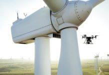 AI blade damages on wind turbine.