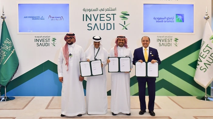 Saudi Aramco to establish a JV with Air Products and ACWA Power and signs seven MoUs at The FII in Saudi Arabia