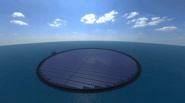 First floating solar power plant in Albania starts commercial operations