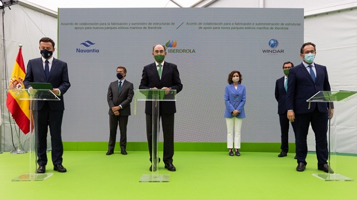 Iberdrola, Navantia and Windar seal alliance to develop offshore wind until 2025