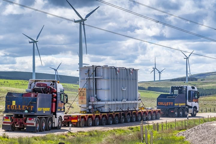 Collett & Sons Ltd Deliver Two 160Te Shunt Reactors for Neart na Gaoithe offshore wind farm project